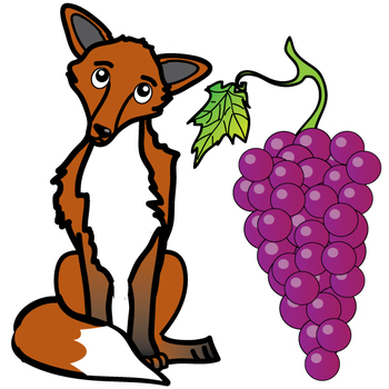 Aesop's Fables: The Fox and the Grapes Free Clip Art Set ...