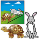 Aesop's Fables : The Tortoise and the Hare Clip Art Set