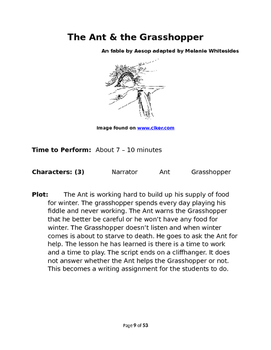 Aesop's Fables for Small Group Reader's Theater Book One