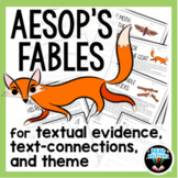 Aesop's Fables Passages and Worksheets for Theme and Text Evidence