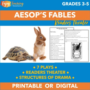 Aesop's Fables in Drama Form for Readers Theater, Skits, o
