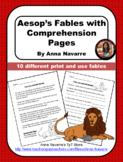 Aesop's Fables with Comprehension Pages