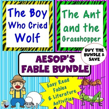 The Boy Who Cried Wolf and The Ant and the Grasshopper Aes