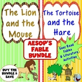 The Lion and the Mouse and The Tortoise and the Hare Fable Bundle