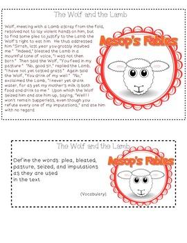 Aesop's Fable Task Card Freebie!!!