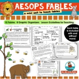 Aesop's Fables -Mini Unit -Reading-Writing-[Anchor Chart and Graphic Organizers]