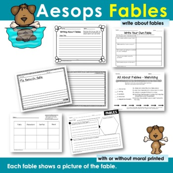 Aesop's Fables   Mini Unit-Reading-Writing  [Anchor Chart - Graphic Organizers]