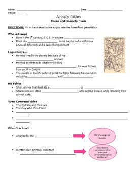 Aesop's Fables Outline (with PowerPoint)