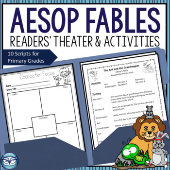 Aesop's Fables Readers' Theater Bundle with Comprehension Lesson Plans