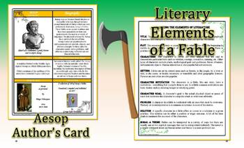 Aesop's Fables Teaching Theme & Moral Analysis Card Freebie
