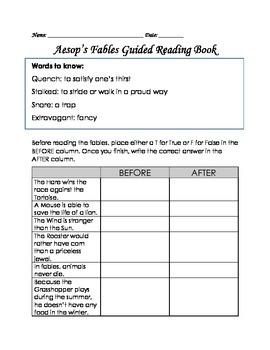 Aesop's Fables Text Comparison Pack