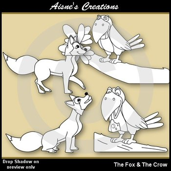 Aesop's Fables - The Fox and The Crow Clip Art