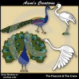 Aesop's Fables - The Peacock & the Crane Clip Art