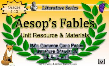 Aesop's Fables Unit Resources Teaching Moral and Theme Com