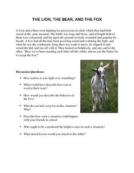 Aesop's Fables for Character Education Part 1