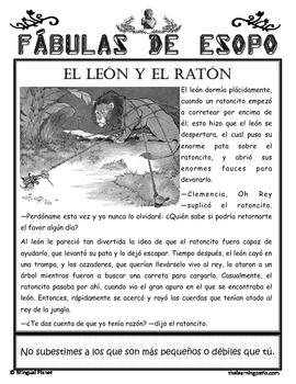 Aesop's Fables in Spanish Fábulas de Esopo by Bilingual Planet and ...