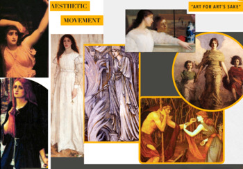 Aesthetic Movement ~ FREE POSTER ~ Art History ~ Aestheticism