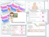 AfL Quiz and Worksheets - The Immune System