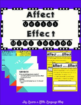 Affect and Effect MiniLesson