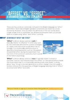 """Affect"" vs. ""Effect"": A Grammar Challenge Explained"