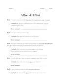 Affect vs. effect activity
