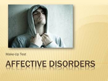 Affective Disorders Essay Questions