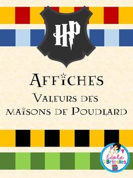 Affichage- Maisons et valeurs de Poudlard