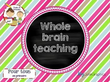 Affichage Whole brain teaching (power teaching) français