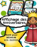 Affichage des Anniversaires / French Birthday display