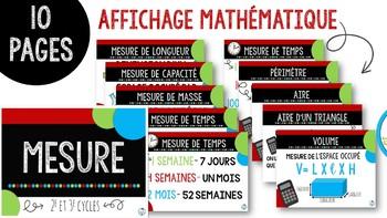 Affichage mathématiques 2e et 3e cycles