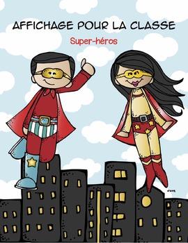 Affichage pour la classe (super-héros)