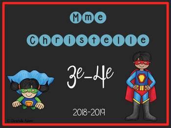 """Affiche """"Bienvenue dans la classe de..."""" superhéros"""