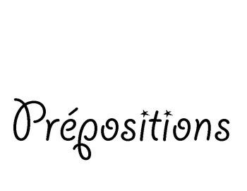 Affiche - Les prépositions