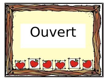 Affiche Ouvert/fermé