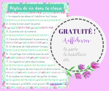 Affiche- Règles de vie