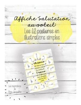 Affiche Salutation au soleil YOGA (french)