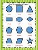 Affiches des formes géométriques en français (Shape Poster