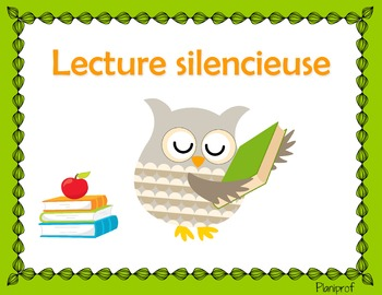 Affiche - lecture silencieuse (hibou)
