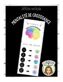 Affiche mentalité de croissance-FRENCH growth mindset poster