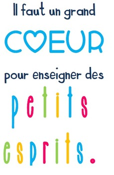Affiche pour cadre dans ta classe ; French sign for picture frame