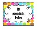 Affiche - responsabilités de classe / small poster classro