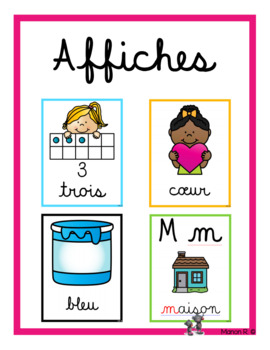 Affiches (0 à 10, formes, couleurs, alphabet)