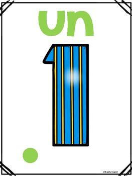 Les nombres: Affiches 1-10