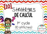 Affiches : 10 stratégies de calcul FRENCH MATH STRATEGY POSTERS