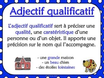 Affiches -  Adjectif qualificatif (grammaire française)