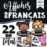 Affiches de français