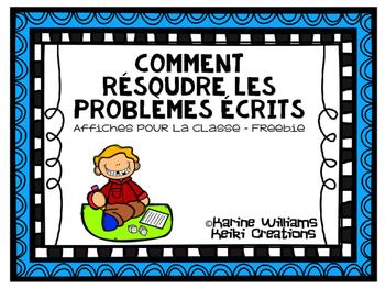 Affiches - Comment résoudre des problèmes écrits