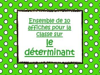 Affiches - Déterminants - Grammaire française