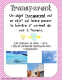 Affiches FRENCH Translucide Transparent Opaque
