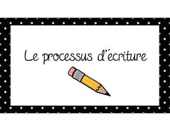 """Affiches """"Le processus d'écriture"""""""